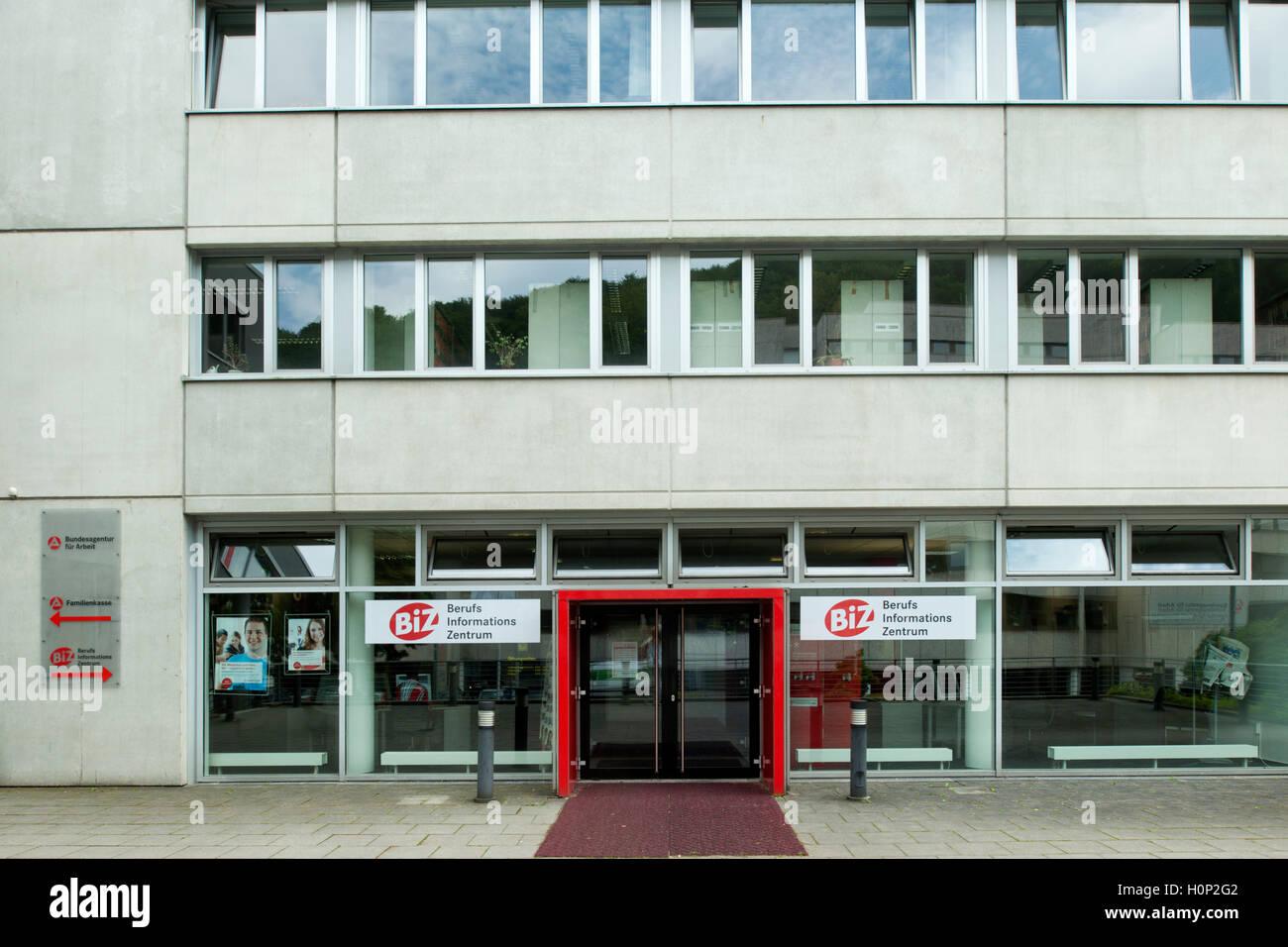 Deutschland, Nordrhein-Westfalen, Wuppertal-Barmen, Agentur für Arbeit, Jobcenter - Stock Image