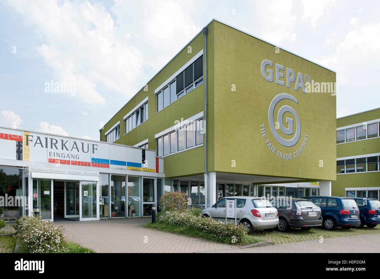Deutschland, Nordrhein-Westfalen, Wuppertal-Vohwinkel, GEPA The Fair Trade Company - Stock Image