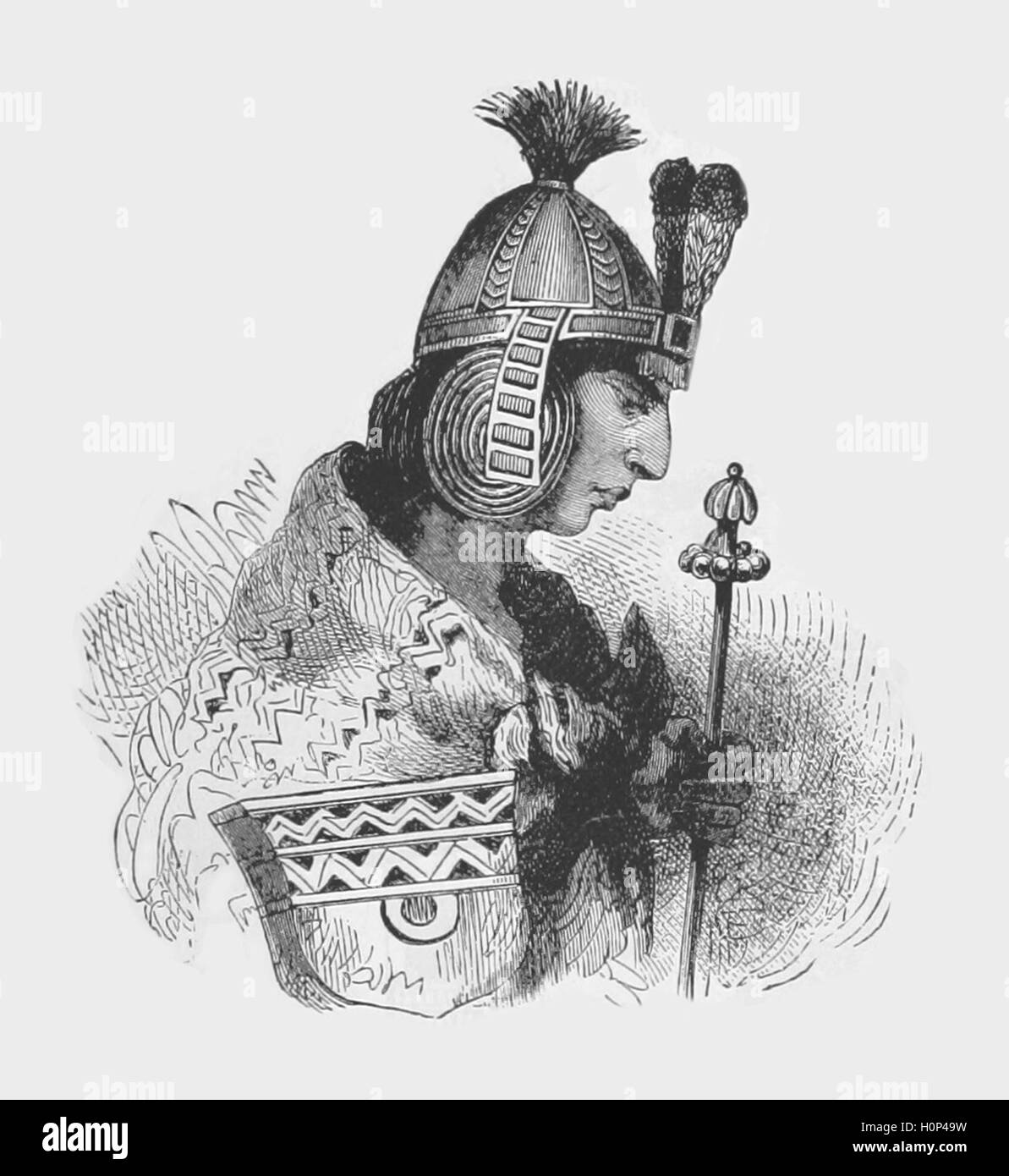 Huascar the 13th Inca emperor  Huascar the 13th Inca emperor Waskar Inka, of uncertain meaning, said to be related - Stock Image