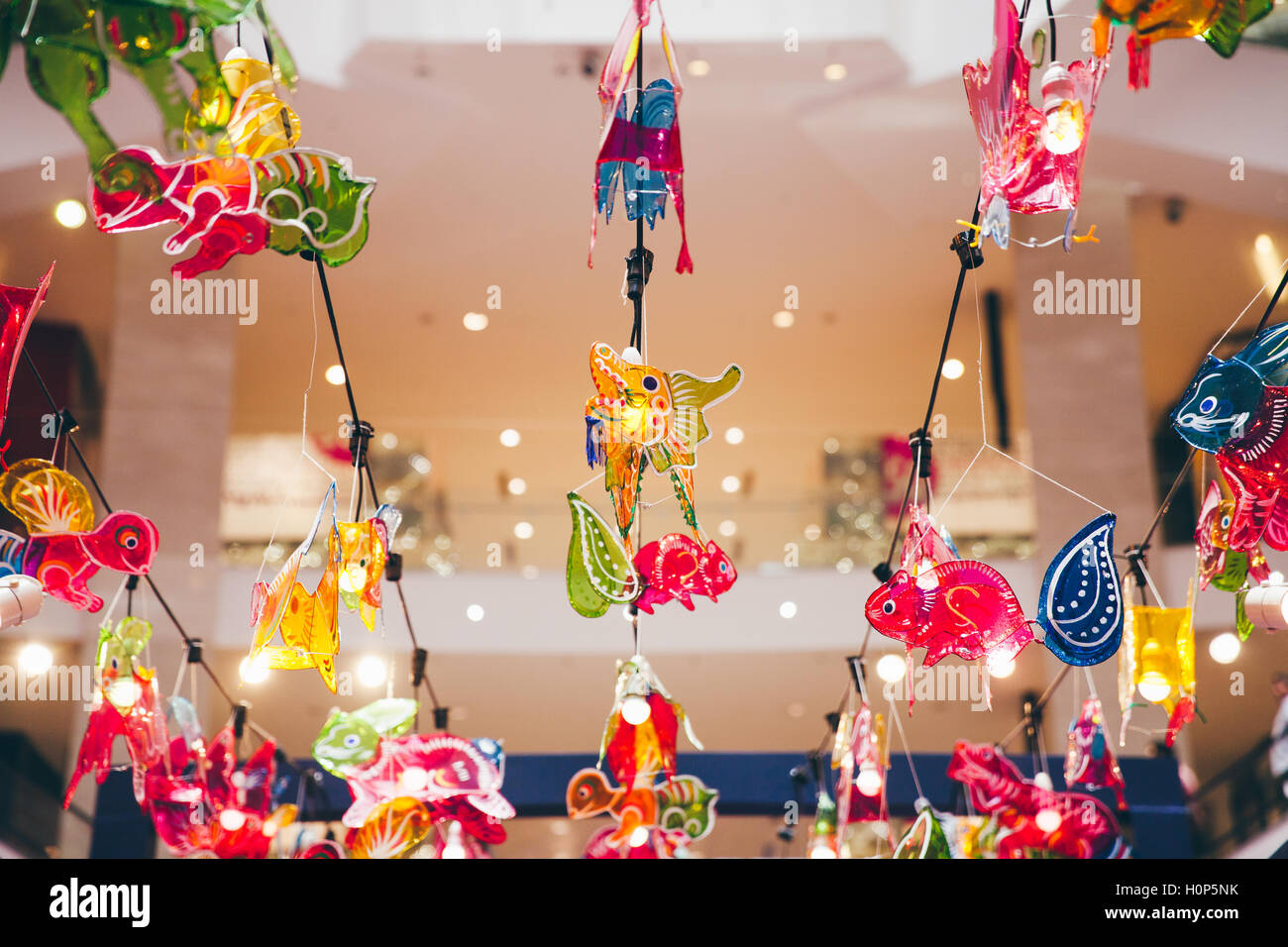 0a4de1b61 Lantern decorations in the mall during Mid-Autumn Festival aka Moon Cake  Festival celebrations in