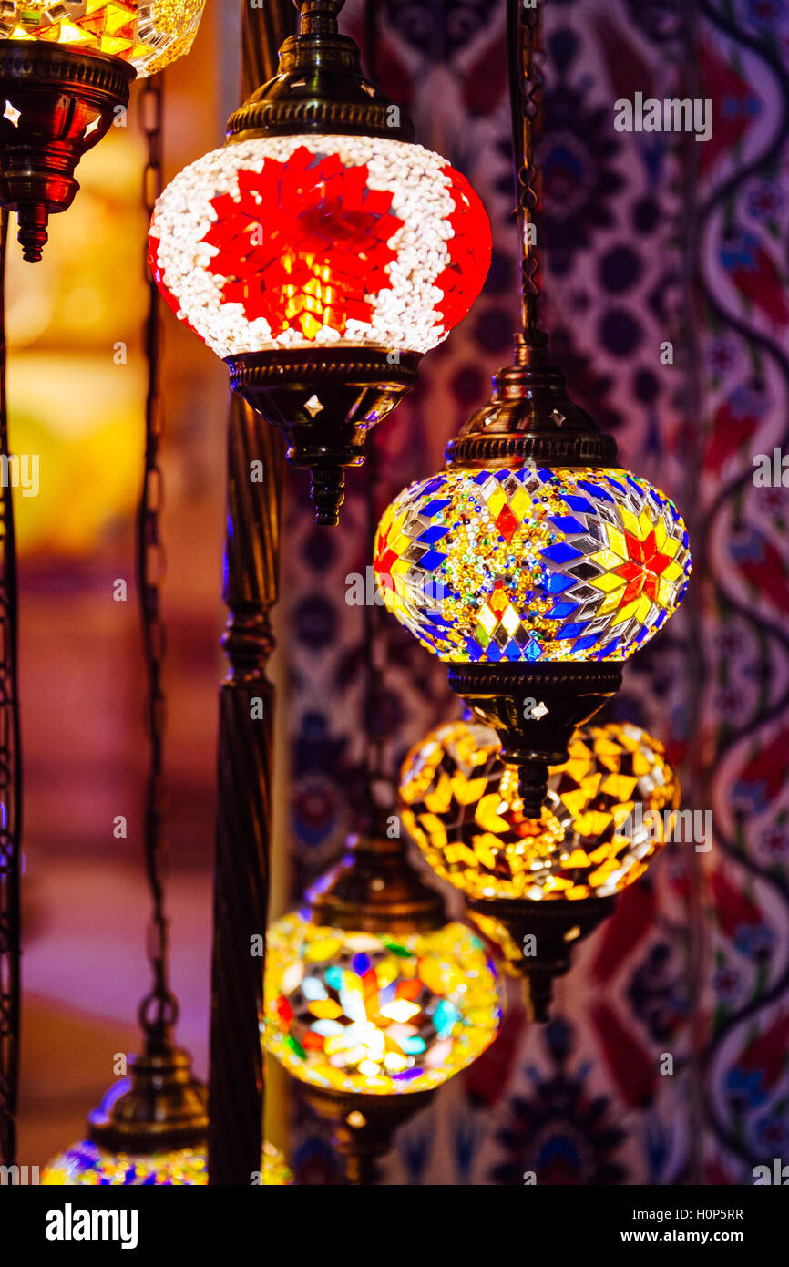 Turkish Mosaic Lamps At The Souvenir Shop, Kuala Lumpur Central Stock  Photo: 120960107   Alamy