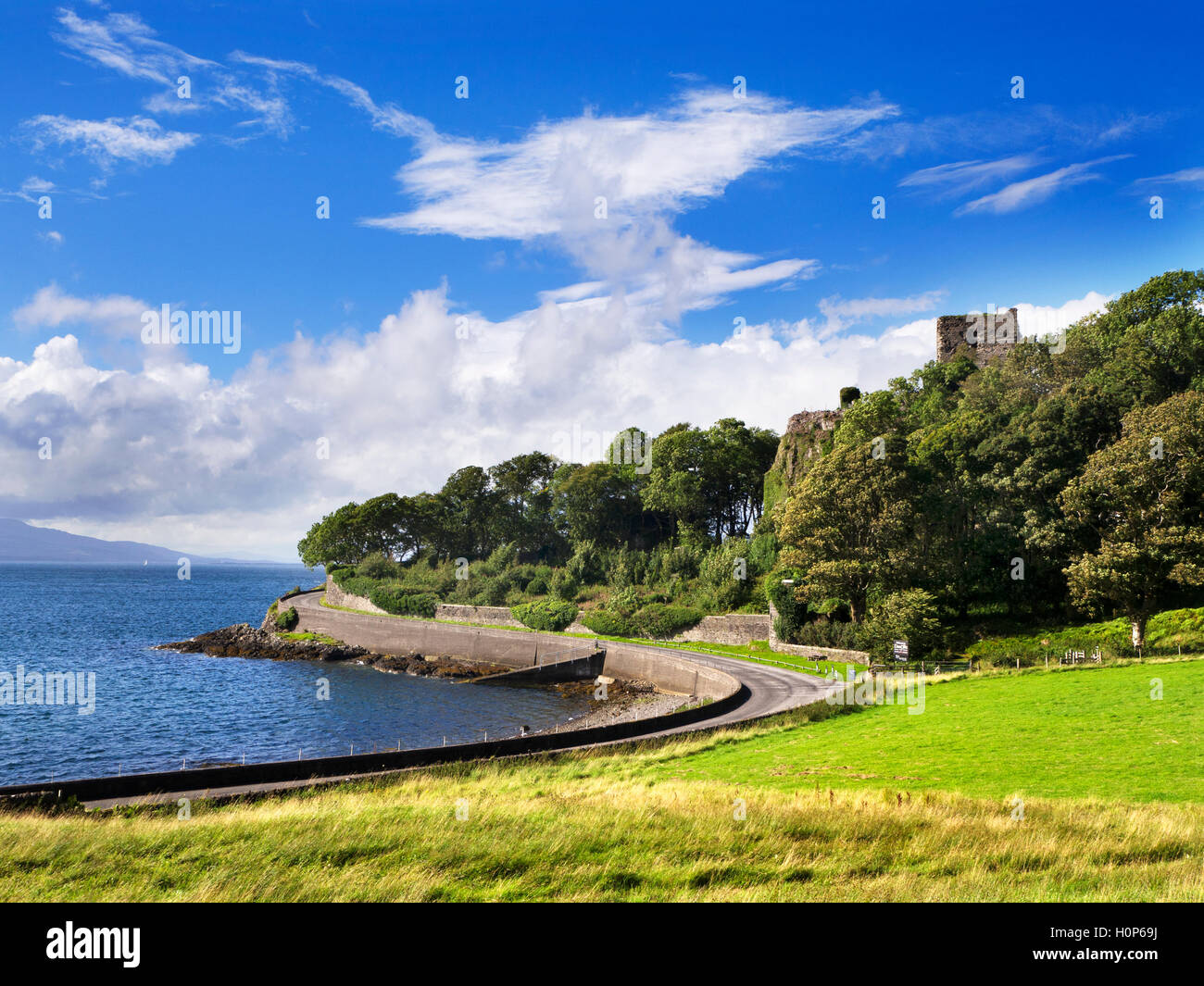 Dunollie Castle near Oban Argyll and Bute Scotland - Stock Image