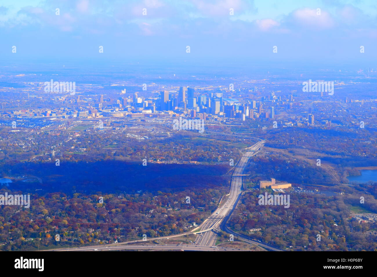 Twin Cities Aerial - Stock Image