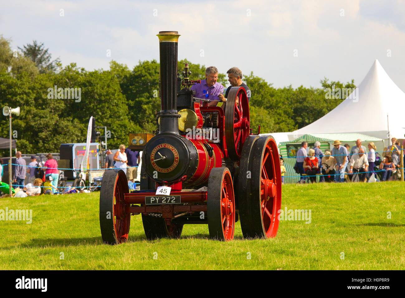 Marshalls' Compound Traction Engine. Bellingham Show and Country Festival, Bellingham, Northumberland, England, - Stock Image