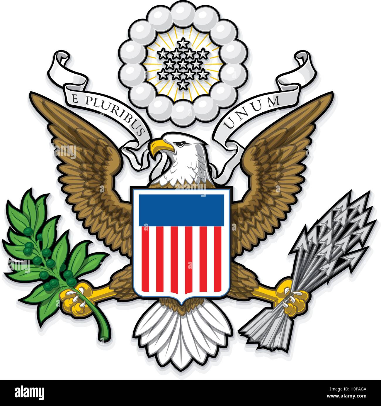 US Great Seal Bald Eagle - Stock Image