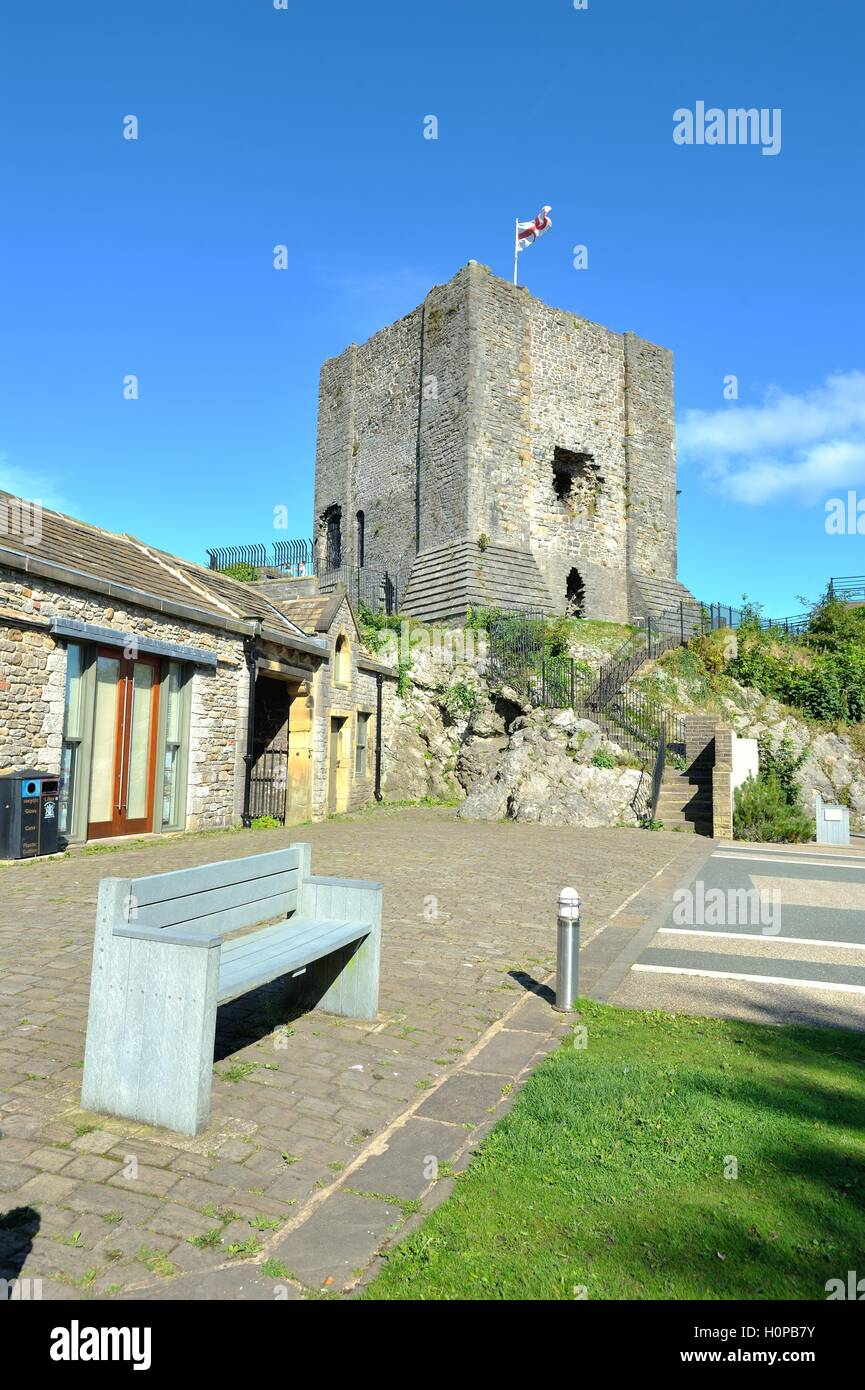 The Keep, Clitheroe Castle - Stock Image