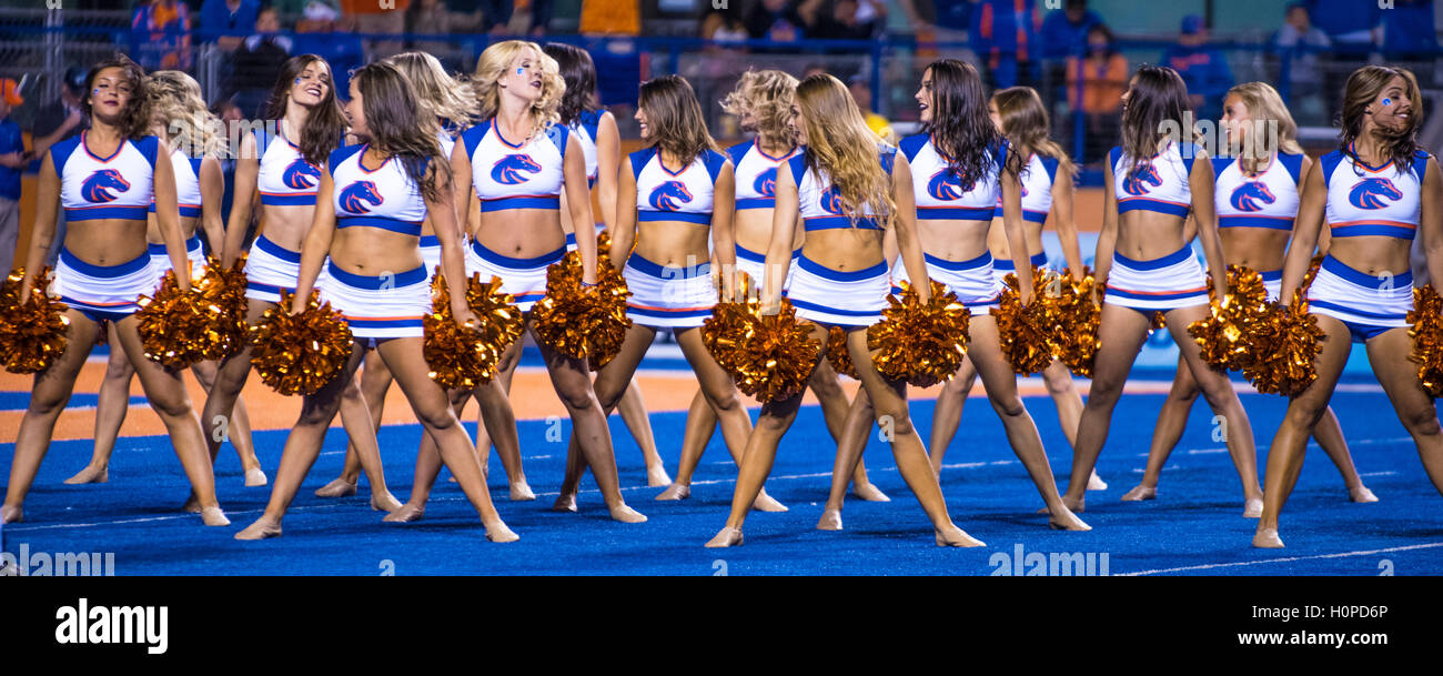 Boise State Football Game, Boise State Cheerleaders, Boise, Idaho - Stock Image