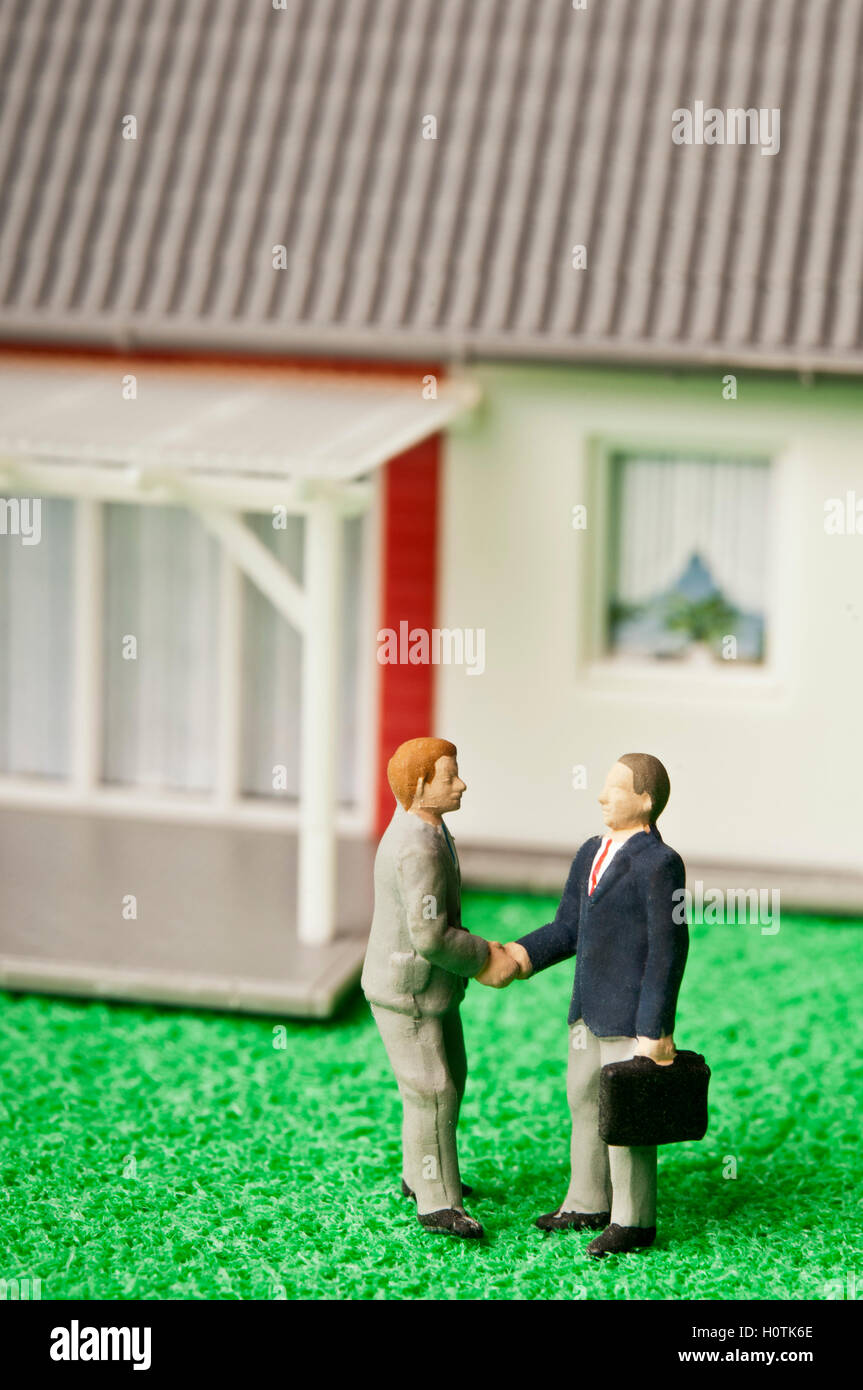 real estate deal - Stock Image