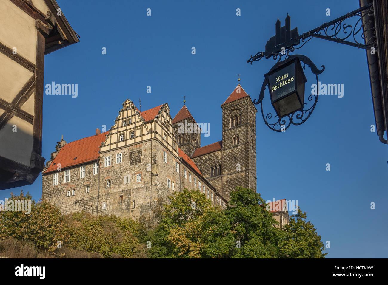 Germany, Saxony-Anhalt, Quedlinburg, castle - Stock Image