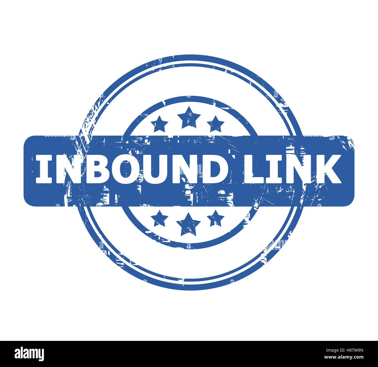 Inbound Link Stamp with stars isolated on a white background. - Stock Image