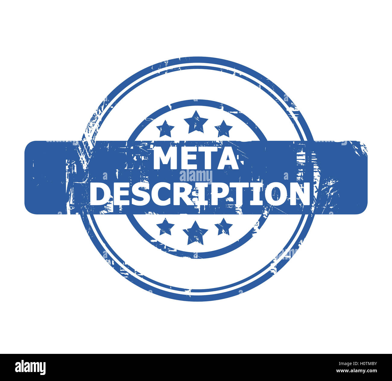 Meta Description Stamp with stars isolated on a white background. - Stock Image