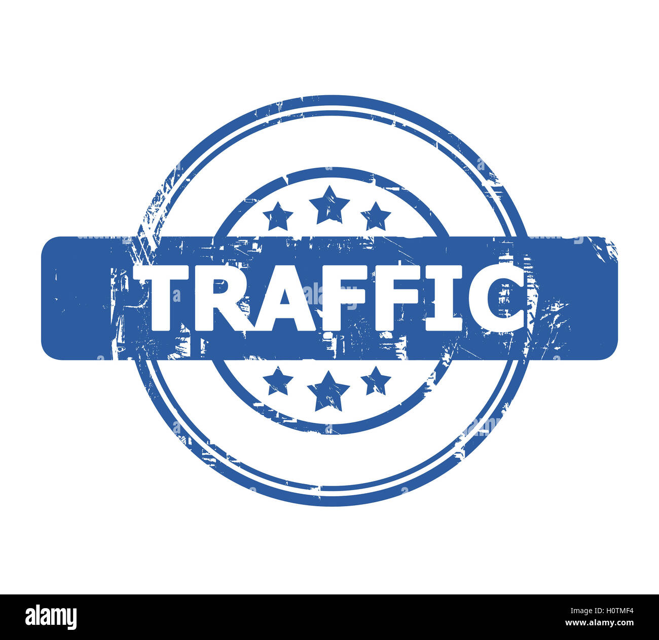 Traffic Stamp with stars isolated on a white background. - Stock Image