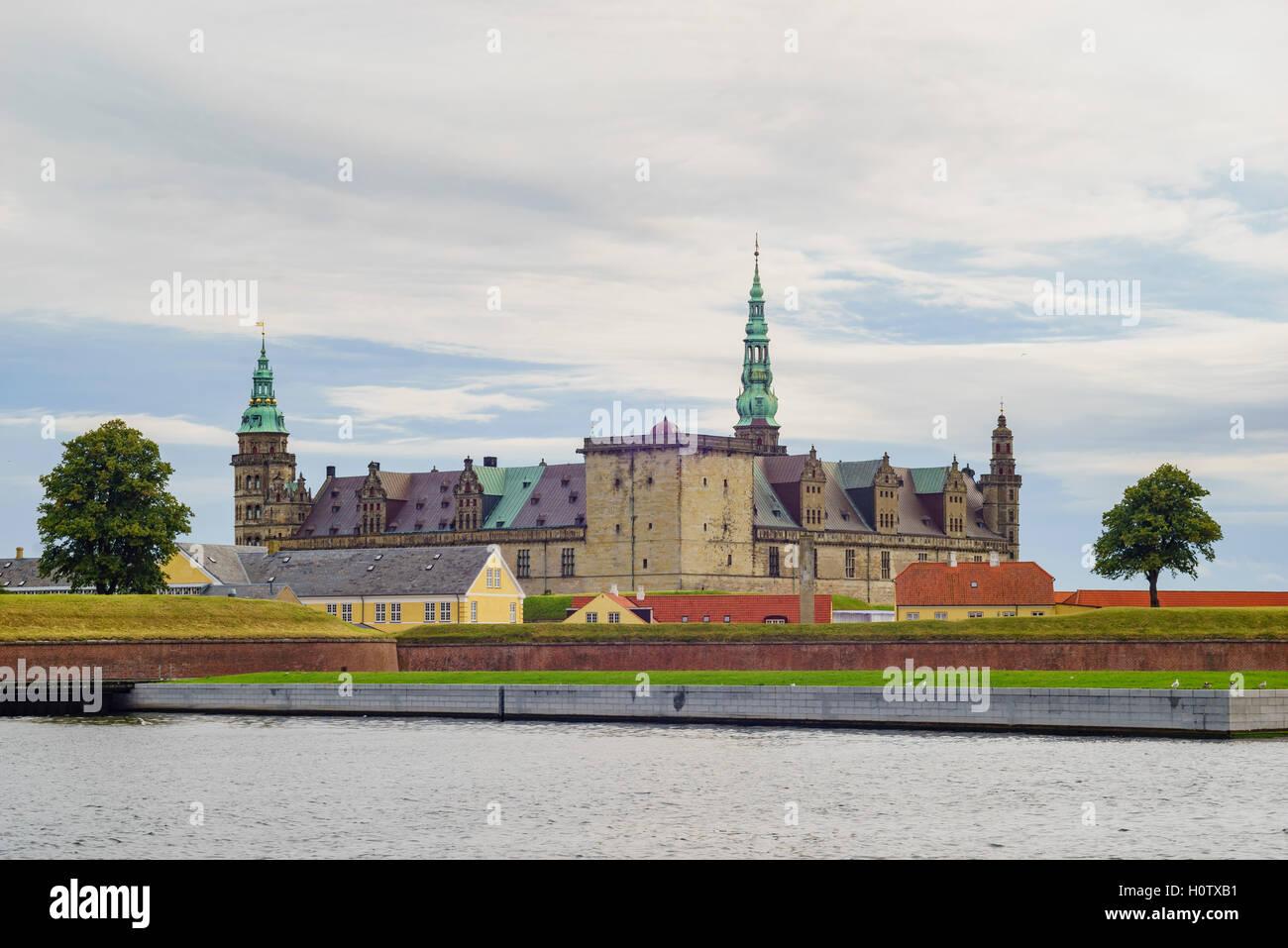 The historical Kronborg Castle at Helsingor, Denmark - Stock Image