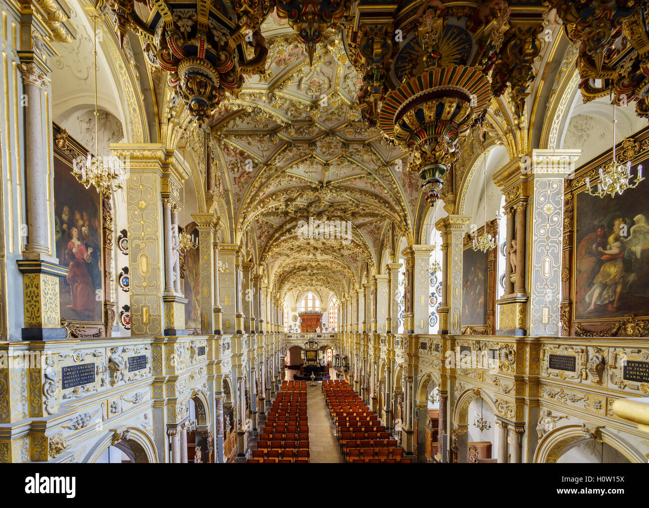 Hillerod, AUG 28: Superb interior view of Frederiksborg Castle on AUG 28, 2016 at Hillerod, Denmark - Stock Image