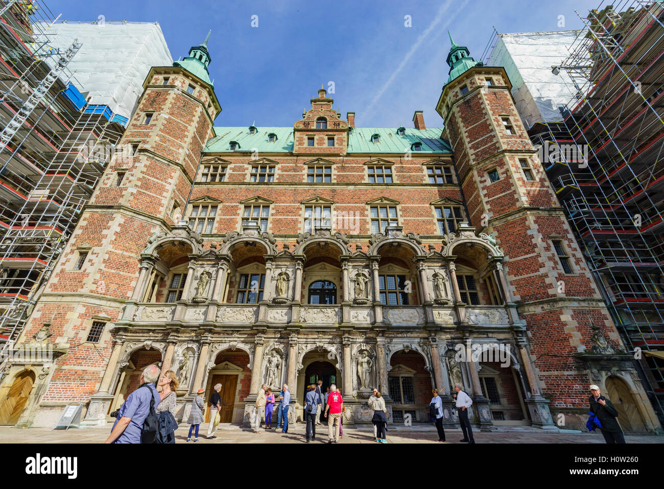 Hillerod, AUG 28: Superb Frederiksborg Castle on AUG 28, 2016 at Hillerod, Denmark - Stock Image