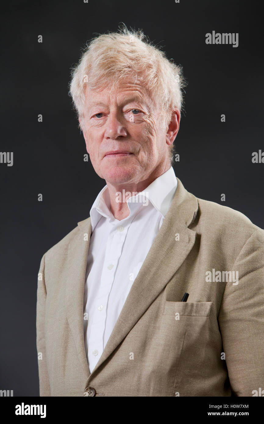 Roger Scruton, the English writer and philosopher, at the Edinburgh International Book Festival. Edinburgh, Scotland. - Stock Image