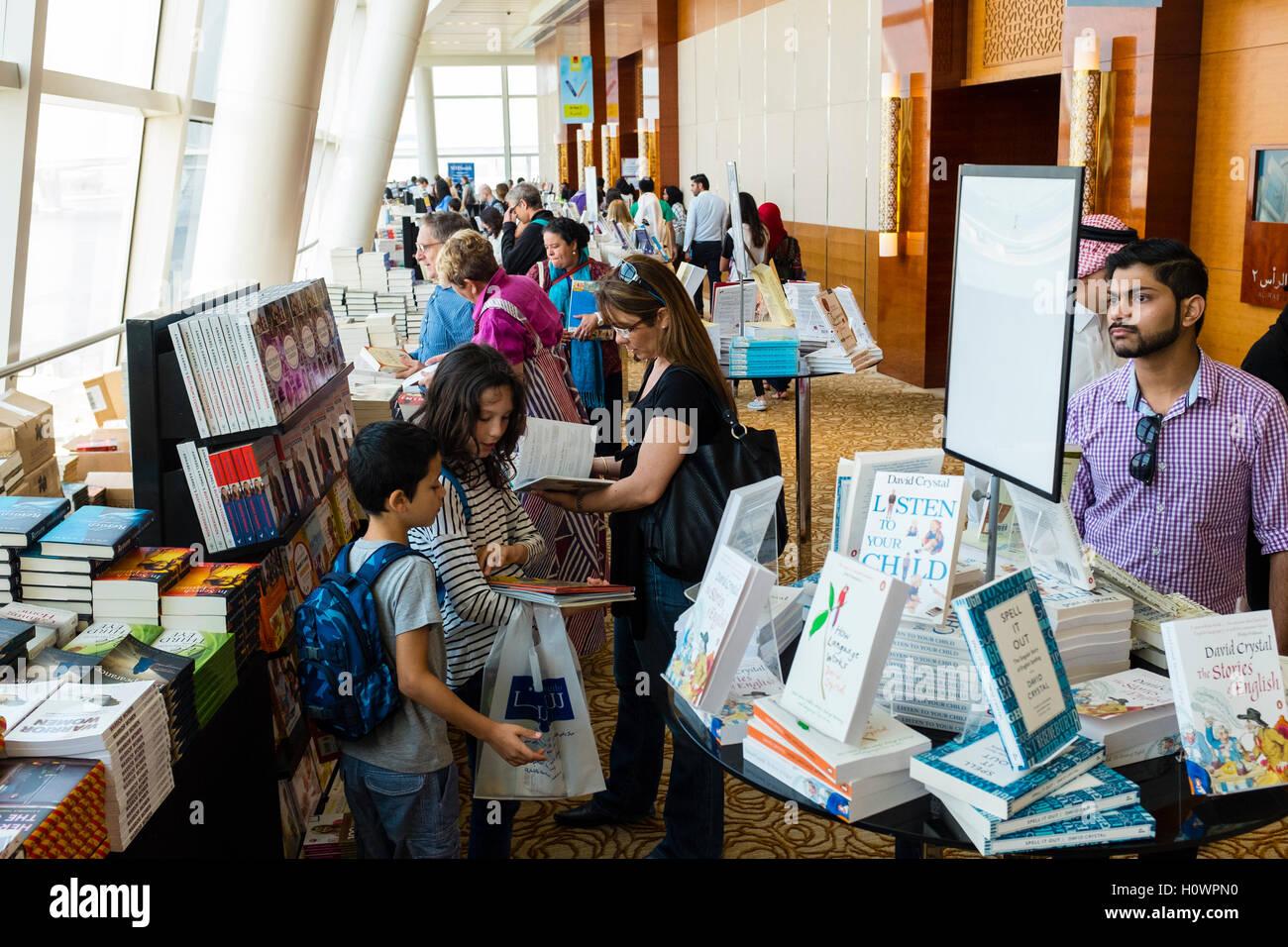 Interior of venue at Emirates Airlines Festival of Literature 2016 in Dubai, United Arab Emirates - Stock Image