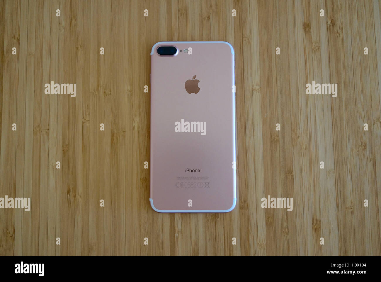 View of iPhone 7 Plus Rose Gold. The iPhone 7 Plus is new smartphone Stock  Photo - Alamy