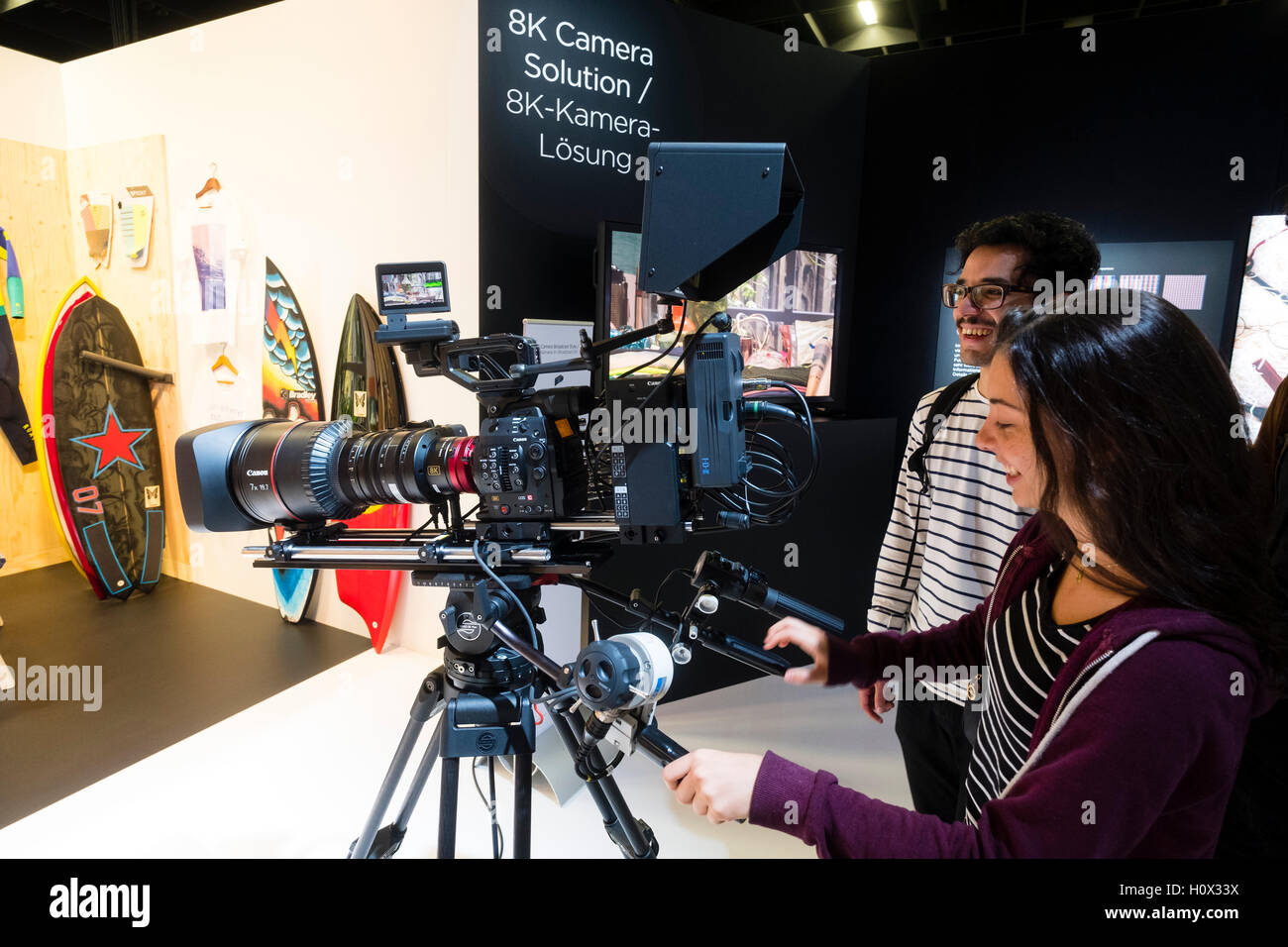 Canon 8k video prototype movie camera at Photokina trade fair in Cologne, Germany , 2016 - Stock Image