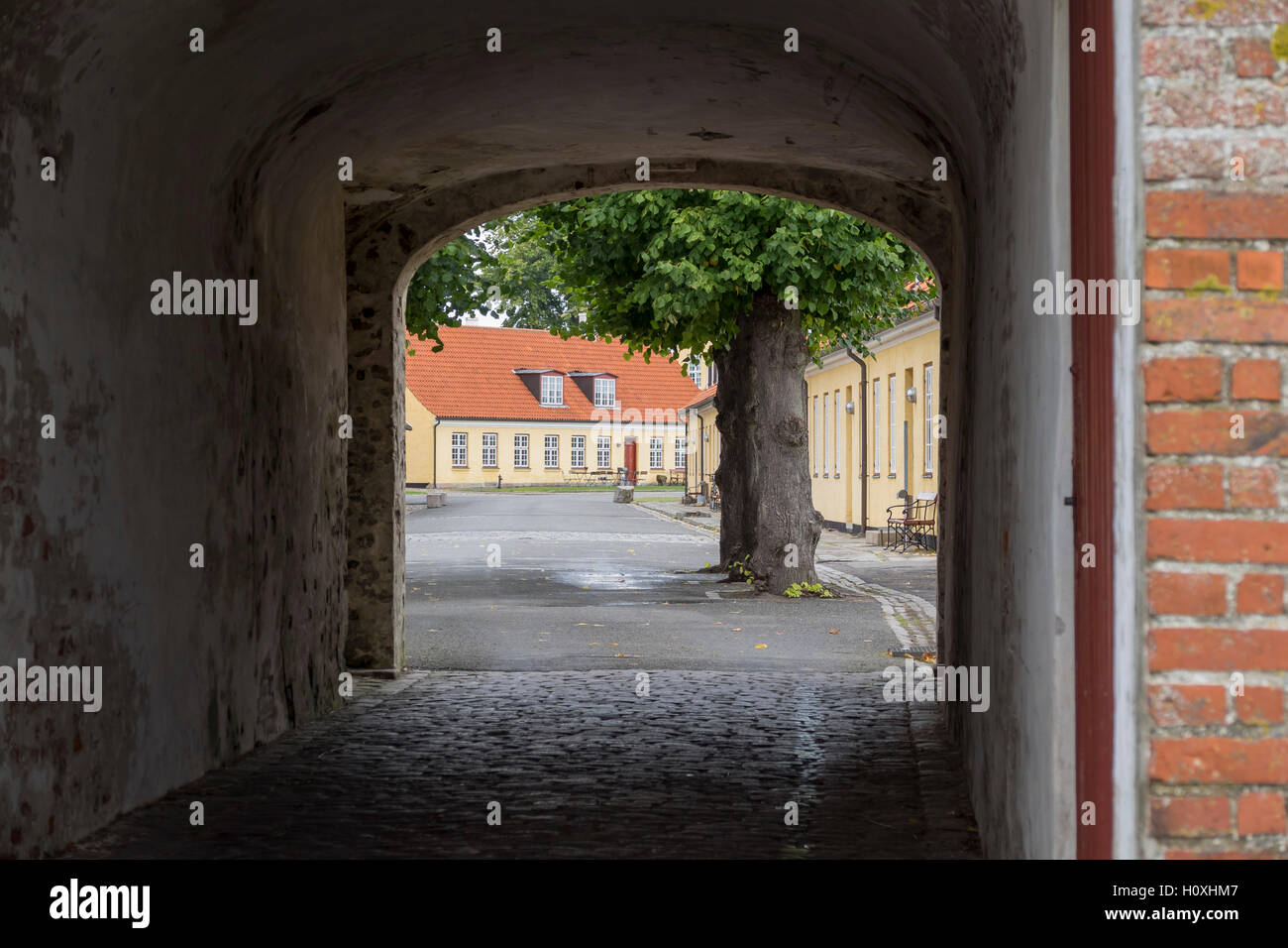 The historical Kronborg Castle at Helsingor, Denmark - Stock Image