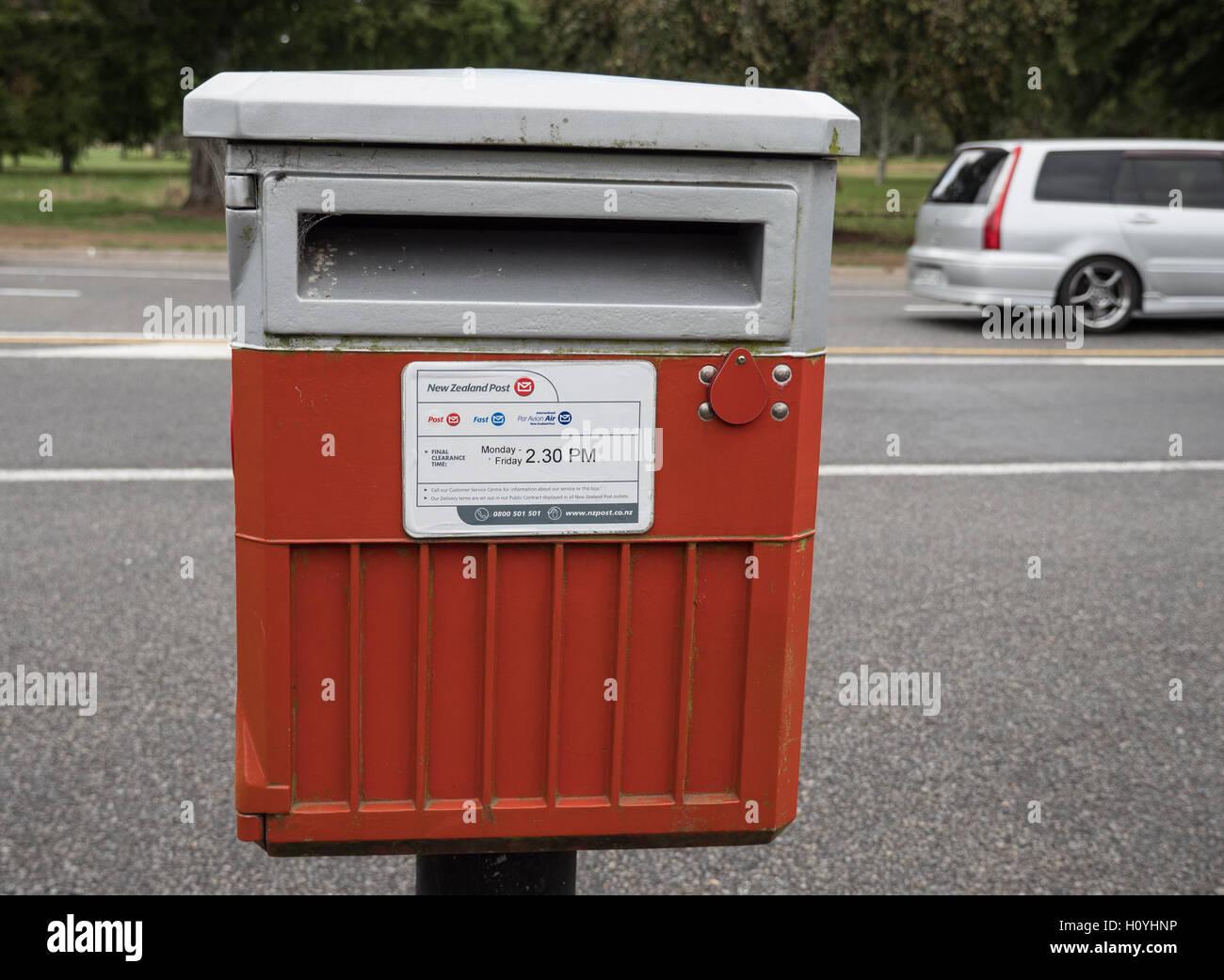 Mail posting box New Zealand. - Stock Image