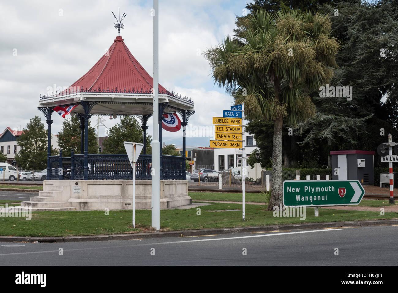 Band Stand, Inglewood, Taranaki, North Island, New Zealand. - Stock Image