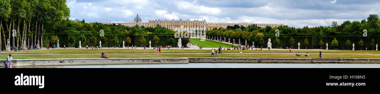 The Palace of Versailles, or simply Versailles, is a royal château close to Paris, France. The Gardens of Versailles - Stock Image