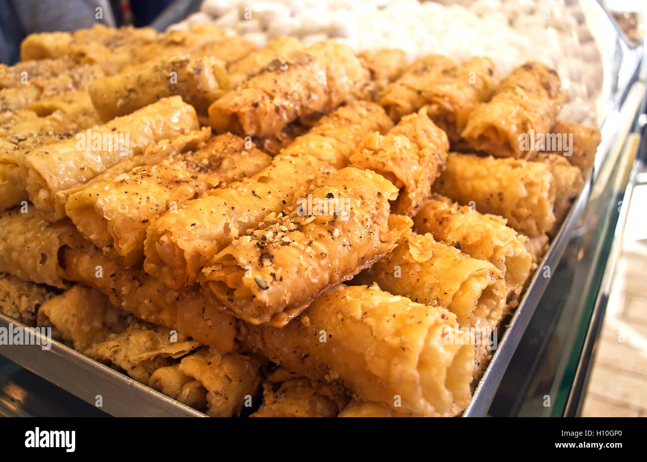 diples or thiples traditional greek christmas dessert stock image - Greek Christmas Traditions