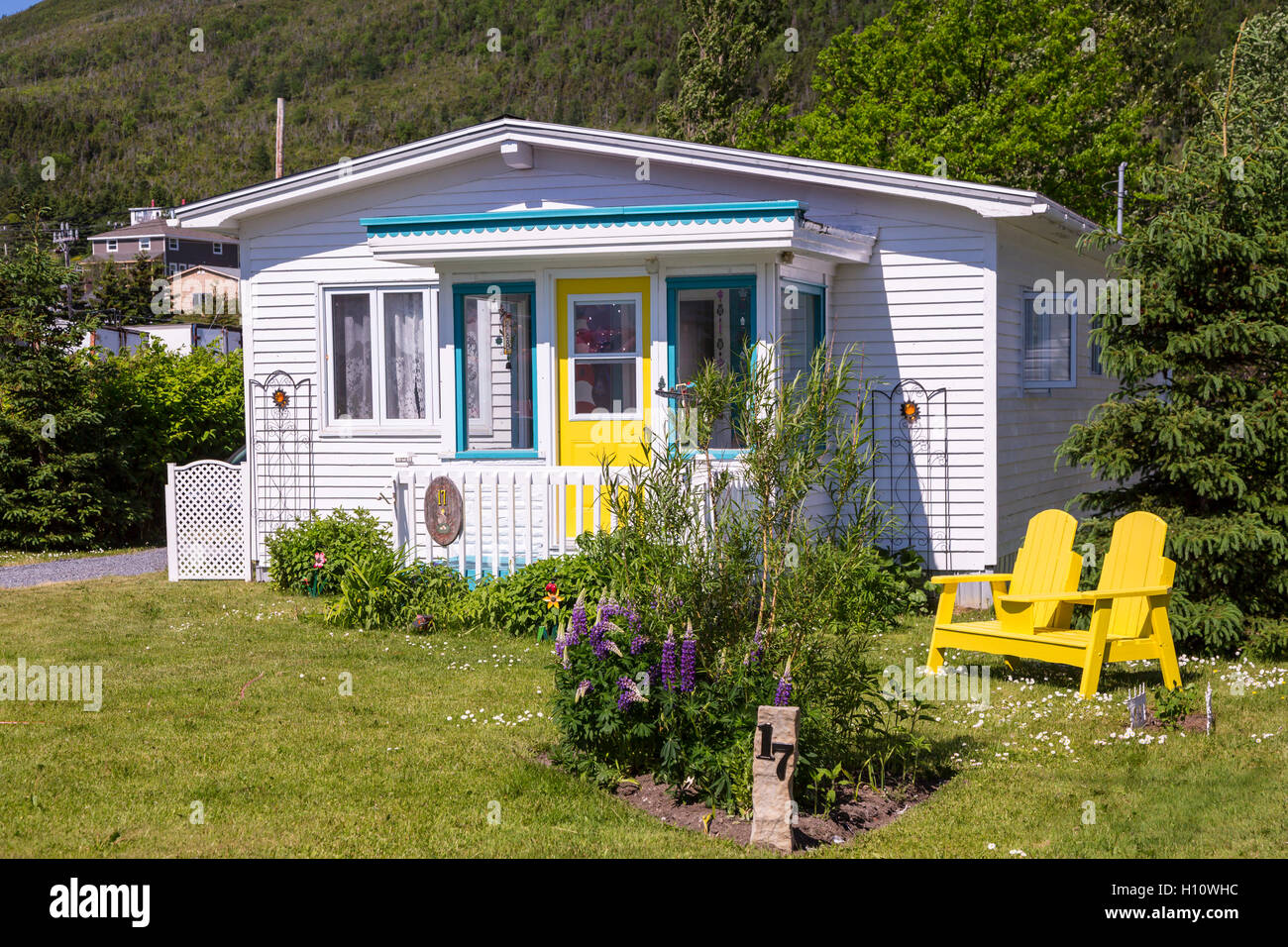 An island home at Woody Point, Newfoundland and Labrador, Canada. - Stock Image