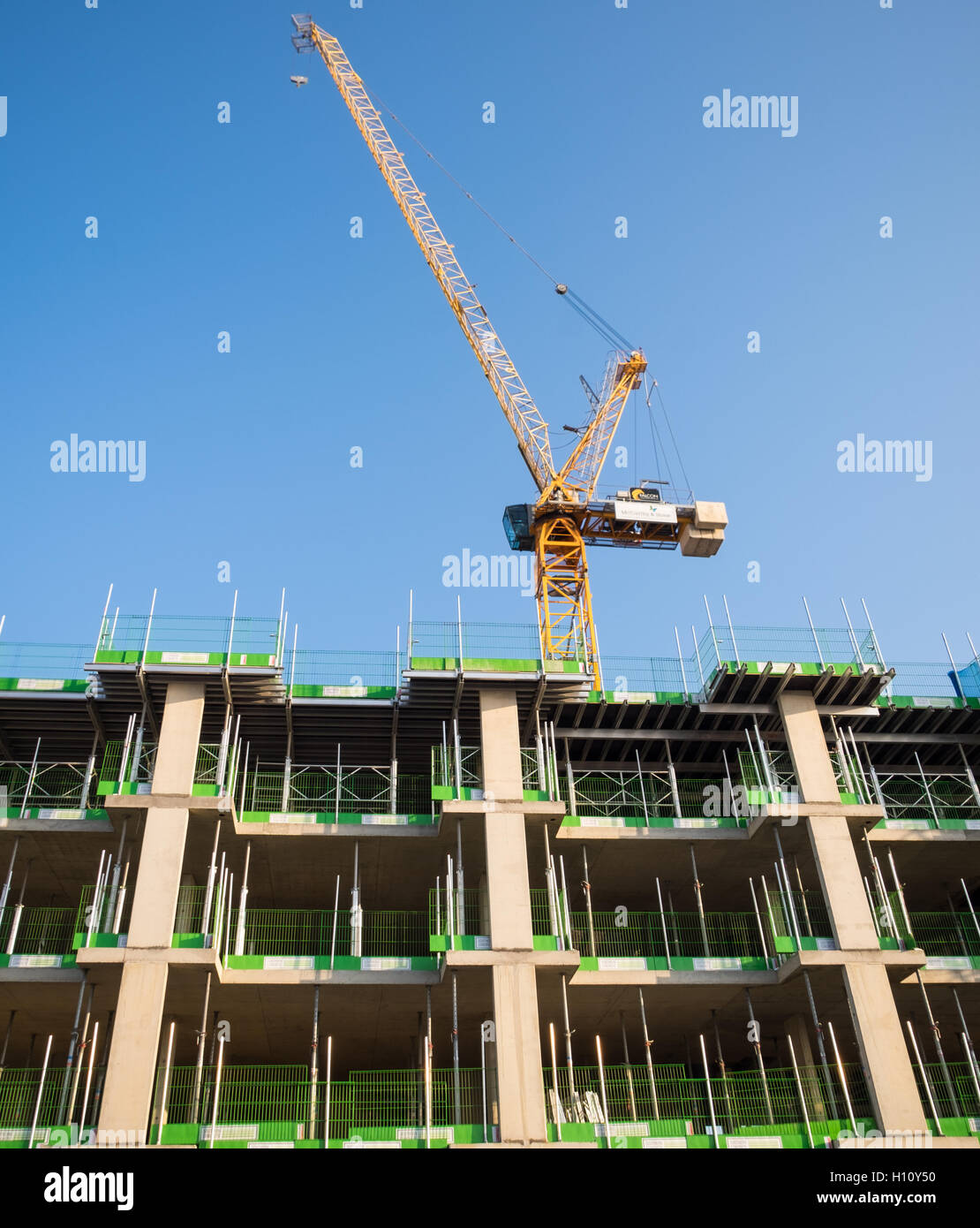 Retirement living properties under construction opposite South Parade Pier in Southsea - Stock Image
