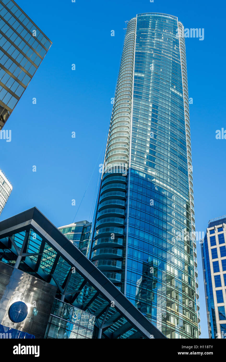 The Trump Tower designed by architect Arthur Erickson. Vancouver, British Columbia, Canada, - Stock Image