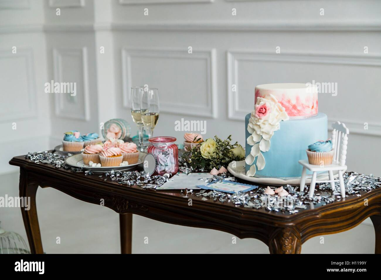 Candy Bar. Delicious sweet buffet - Stock Image