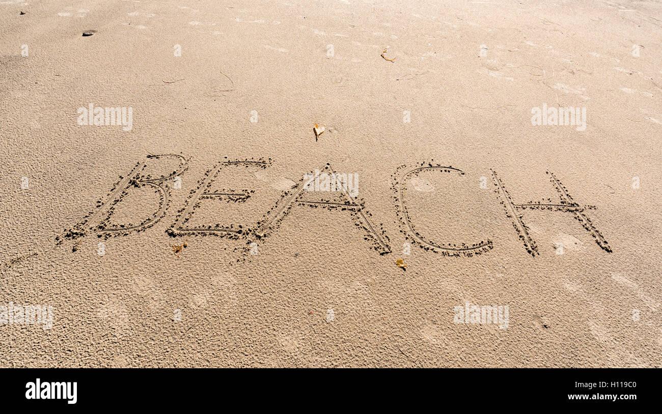 Beach signe - Stock Image