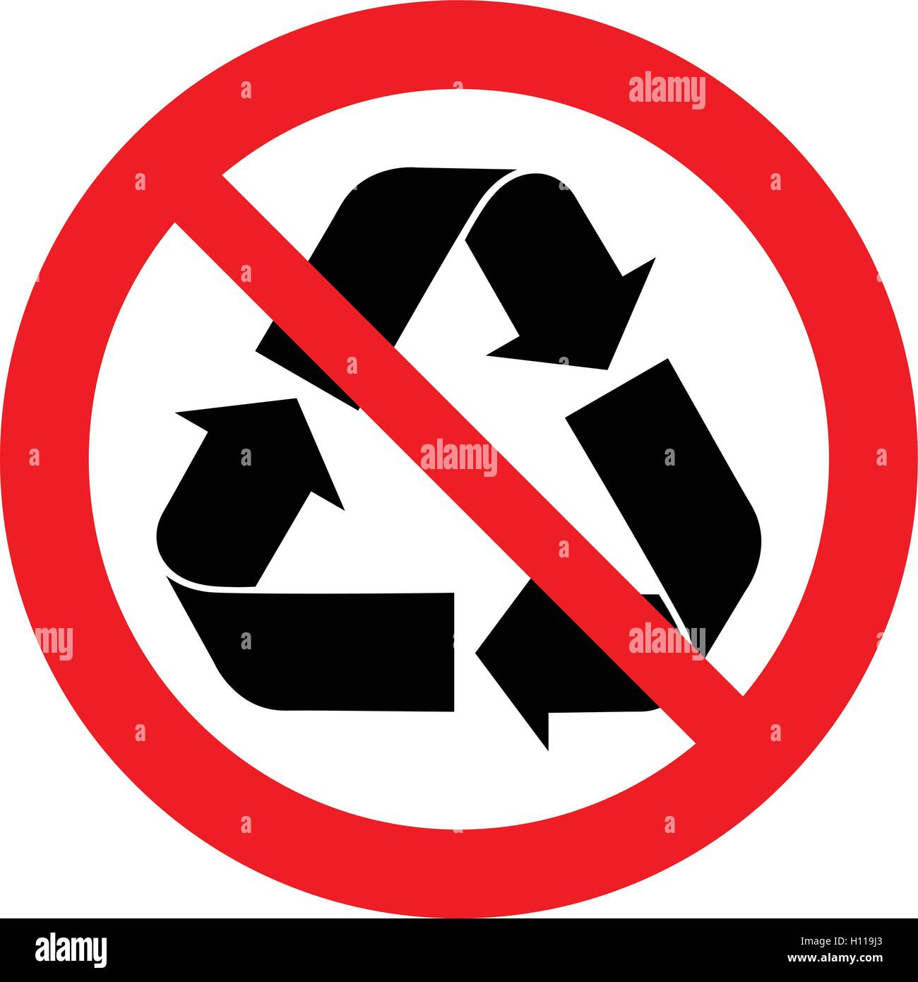Do Not Recycle Symbol Vector Clipart Library