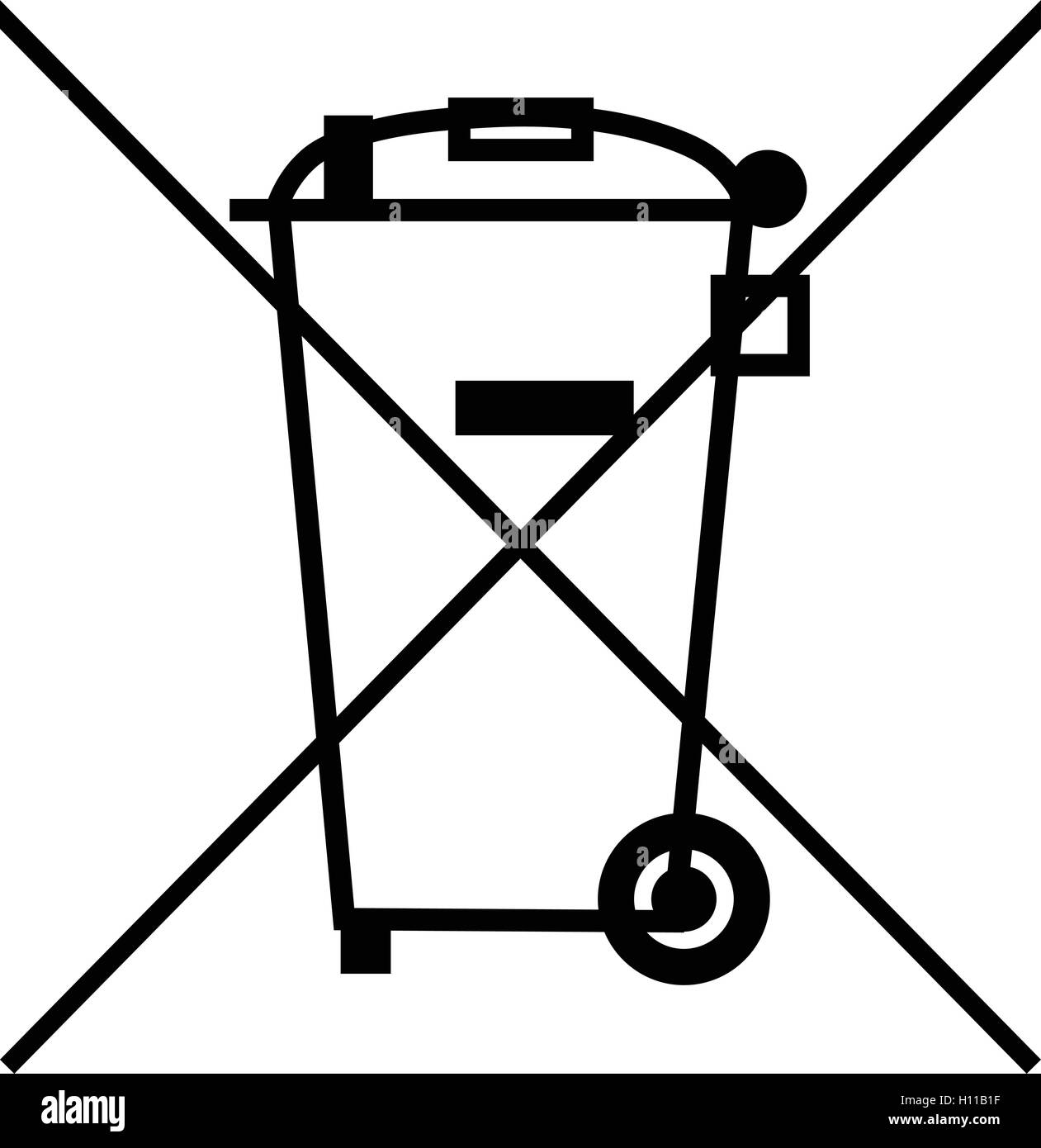 The crossed out wheelie bin symbol waste electrical and electronic the crossed out wheelie bin symbol waste electrical and electronic equipment recycling sign vector illustration buycottarizona Choice Image