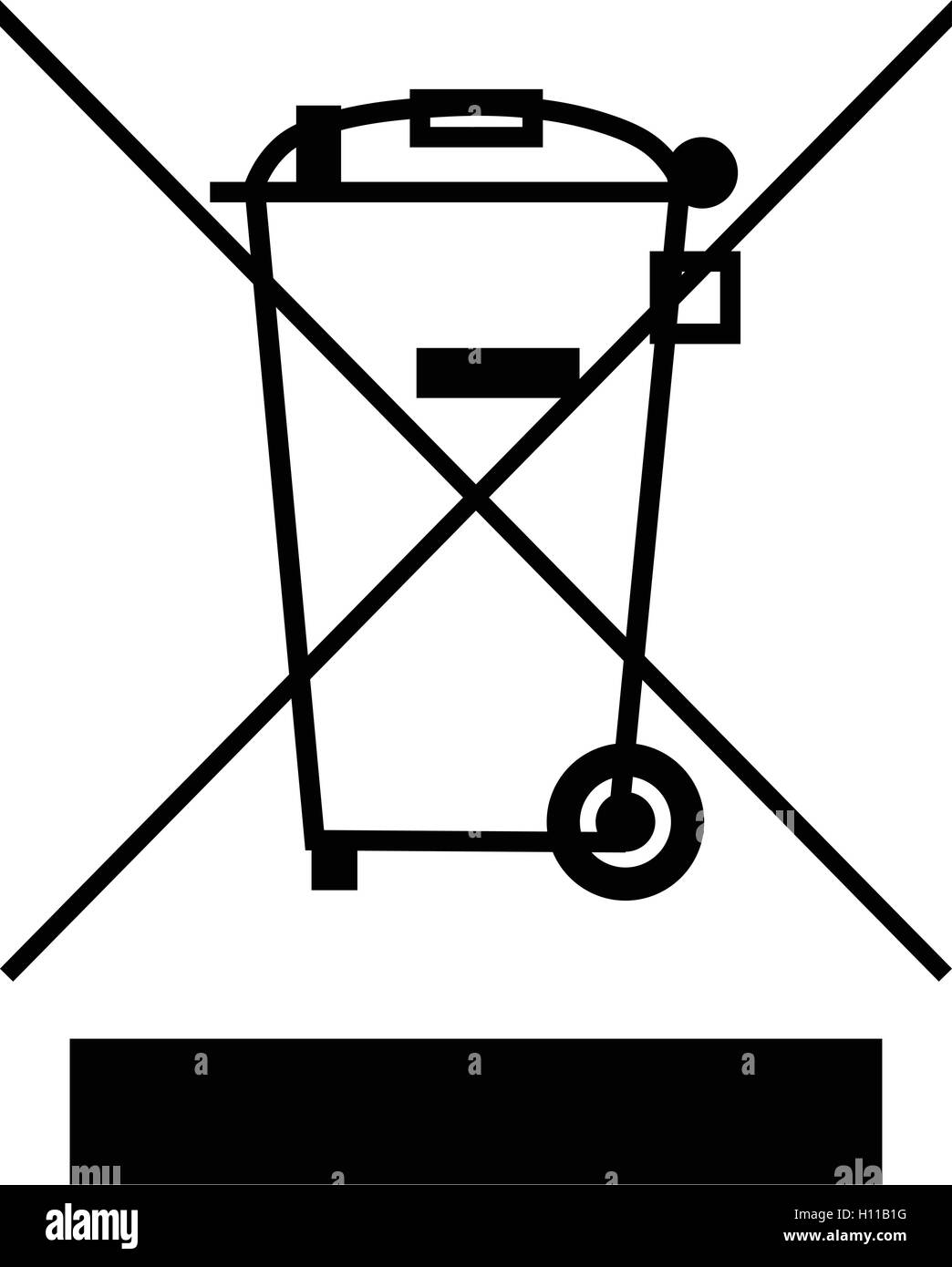 The Crossed Out Wheelie Bin With Bar Symbol Waste Electrical And