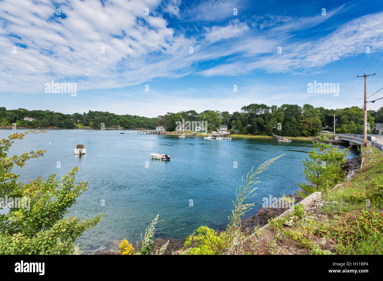 Spruce Creek, Maine - Stock Image