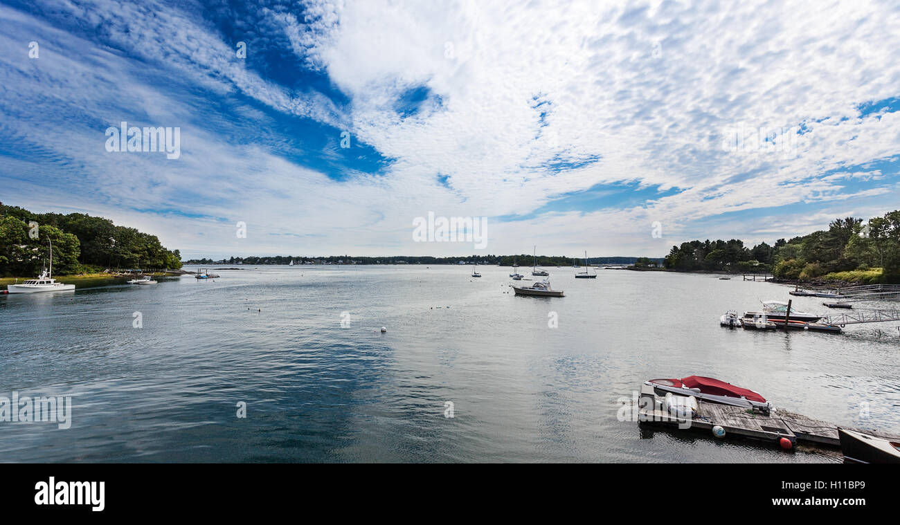 Spruce Creek flows to Piscataqua - Stock Image