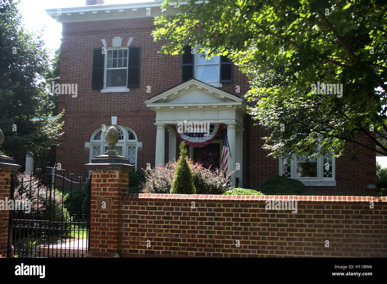 The Lucado House, in historic district of Lynchburg, Virginia - Stock Image