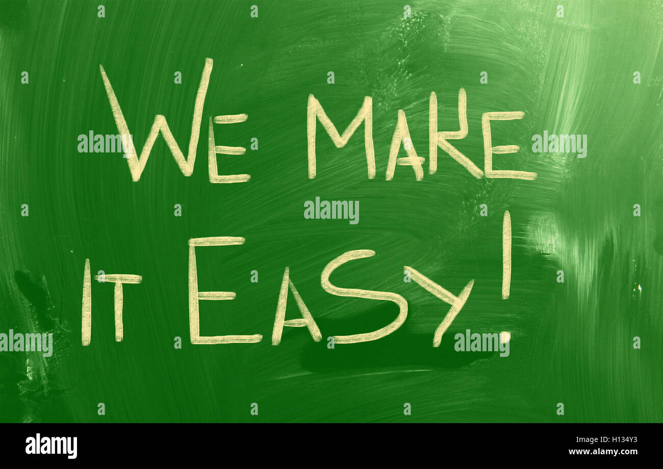 We Make It Easy Concept - Stock Image