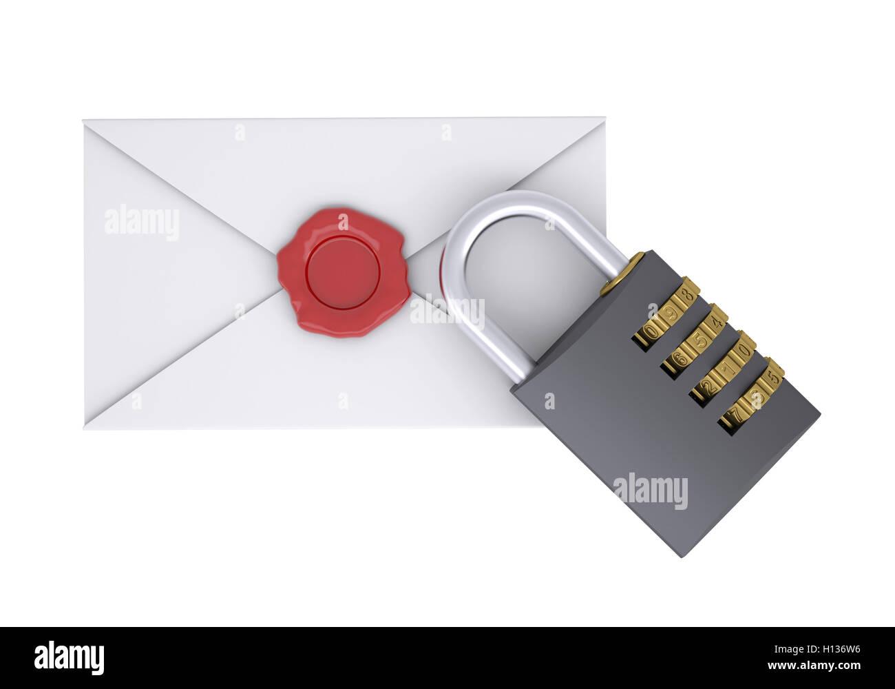 Combination Lock And White Envelope Stock Photo 121158498 Alamy Diagram