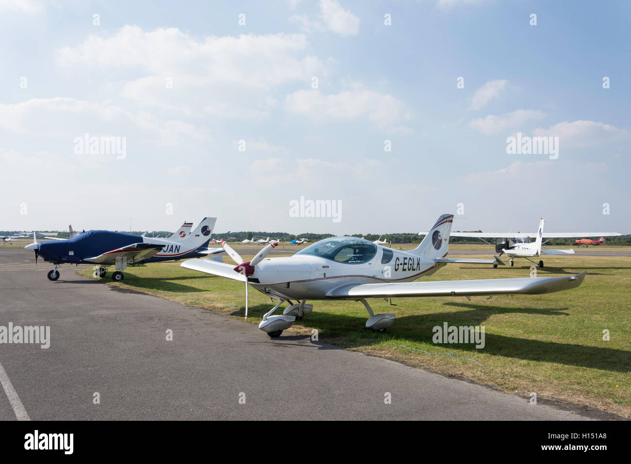 Blackbushe Airport, London Road, Blackwater, Hampshire, England, United Kingdom - Stock Image