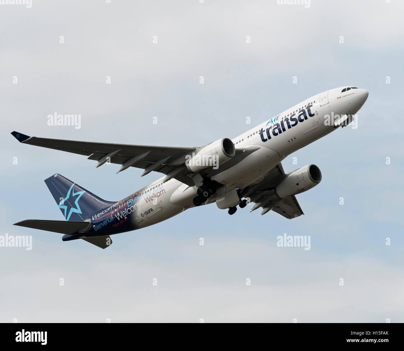 Air Transat Airbus A330-200 C-GUFR - Stock Image