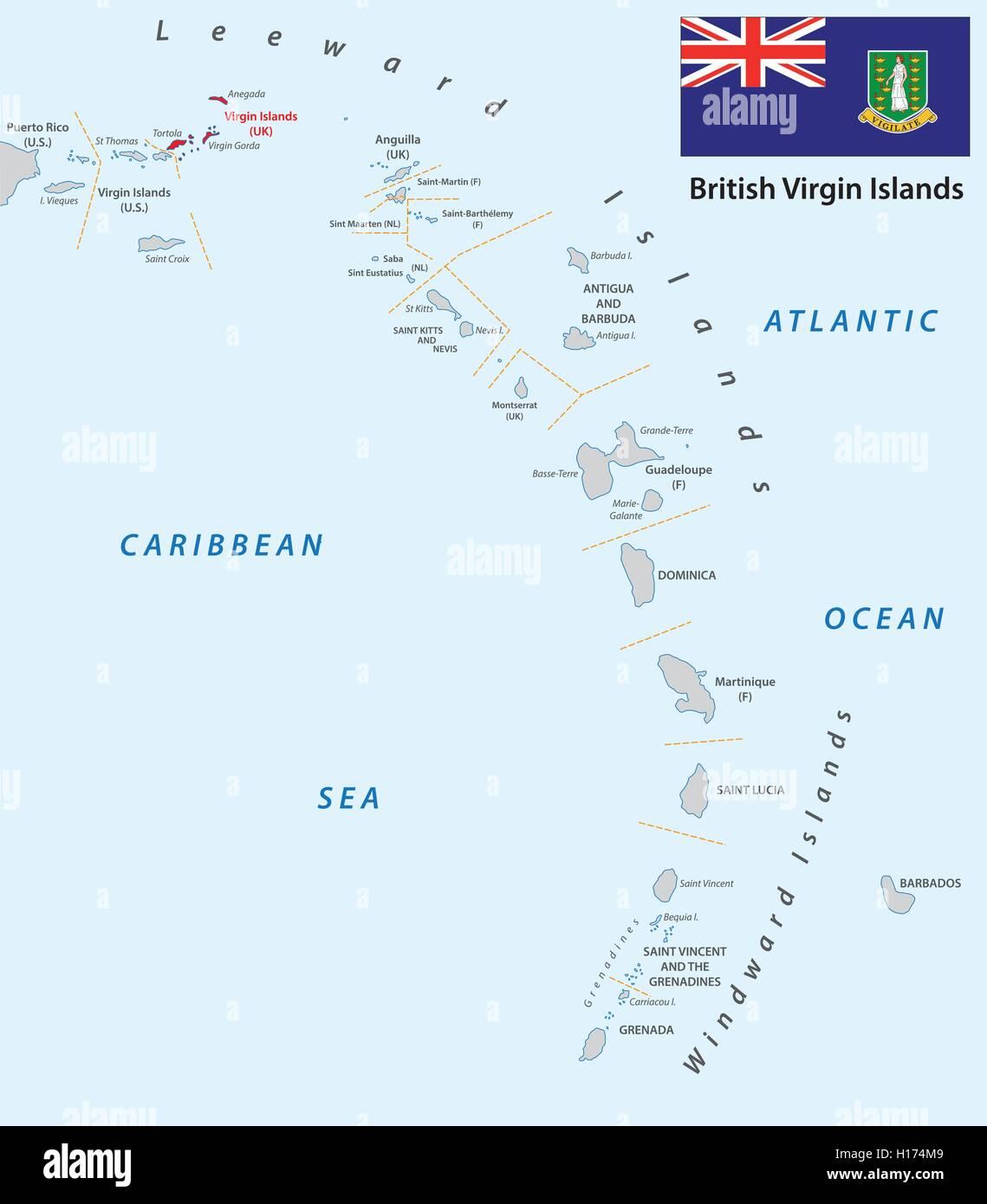Lesser Antilles Map Stock Photos & Lesser Antilles Map Stock ...