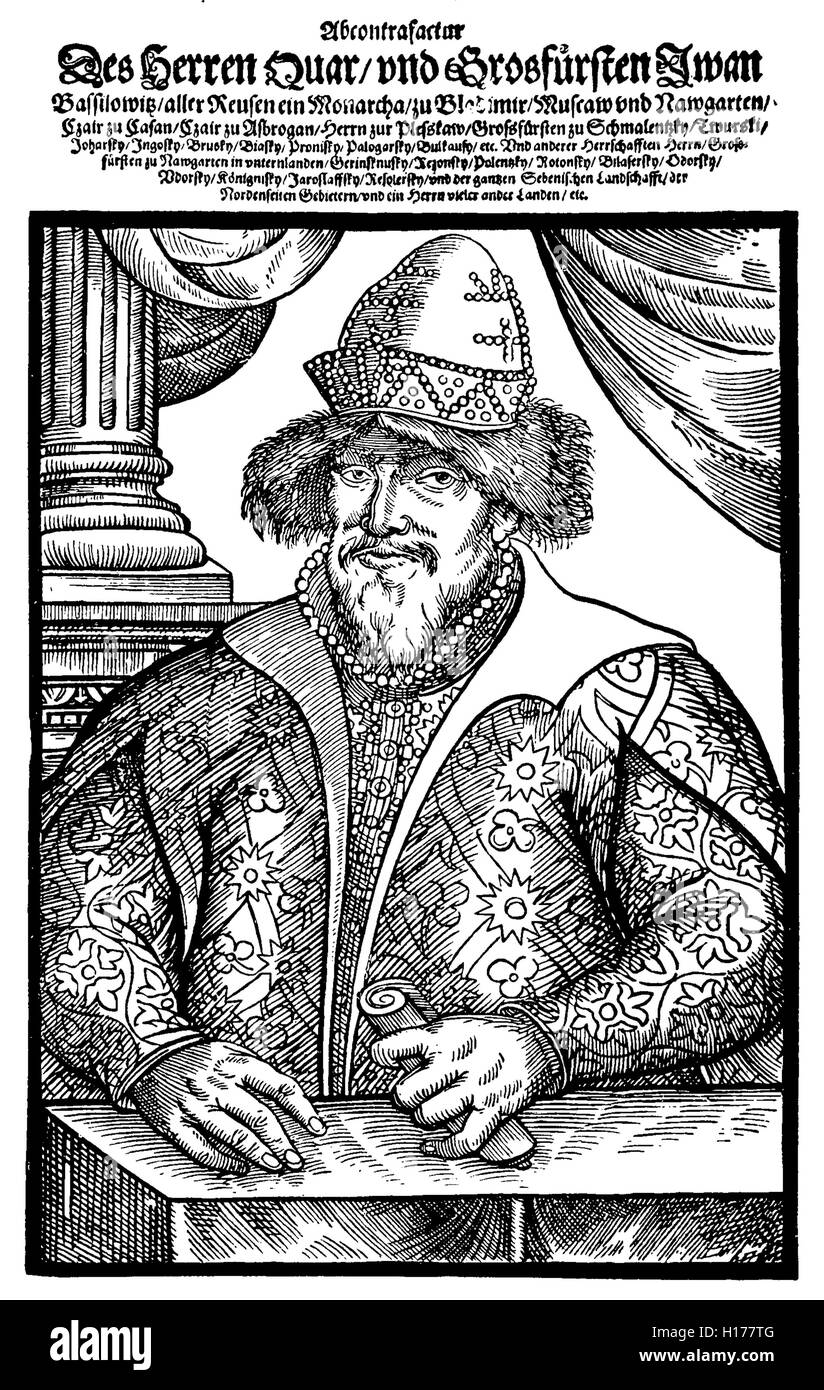 Ivan IV Vasilyevich, also known as Ivan the Terrible or Ivan the Fearsome,  Grand Prince of Moscow from 1533 Stock Photo