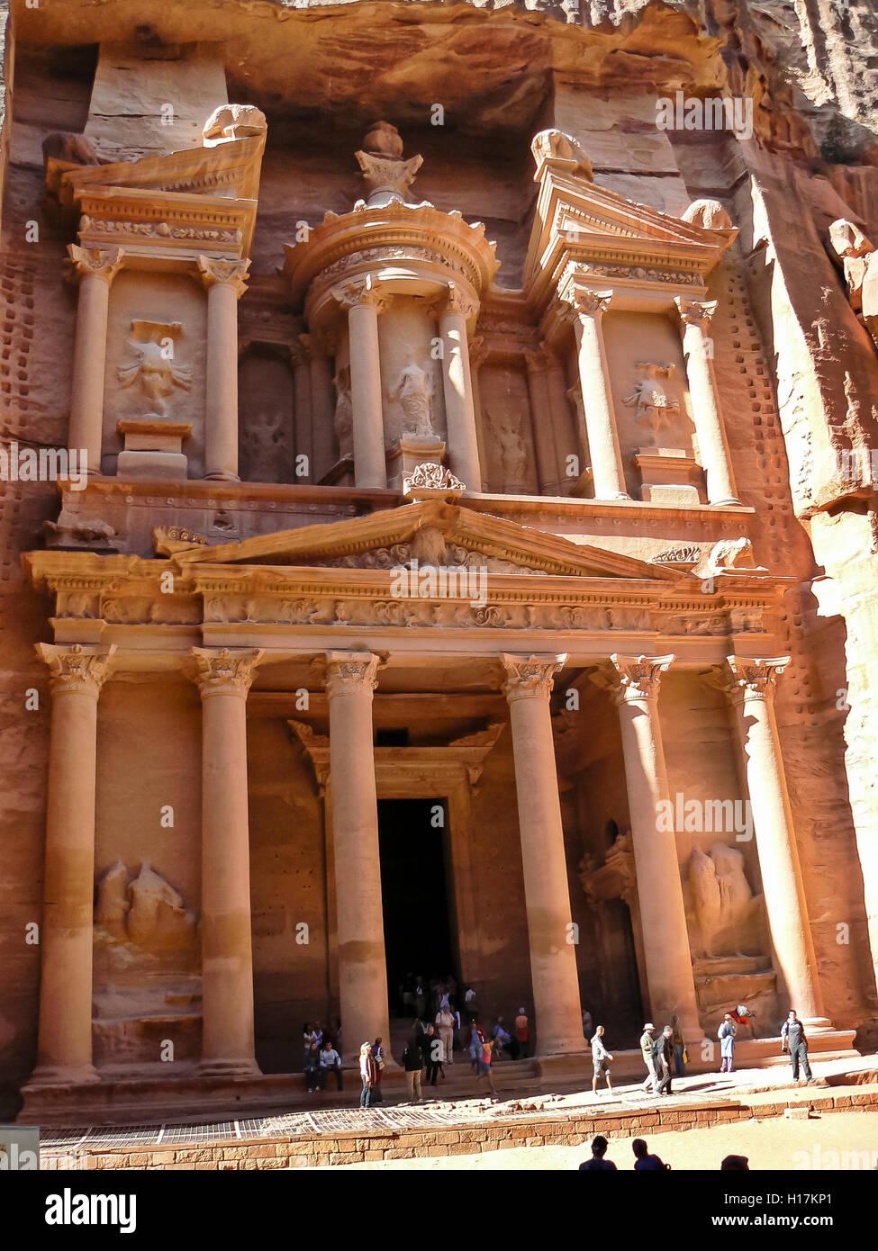 Al Khazneh, treasury at Petra, Jordan - Stock Image