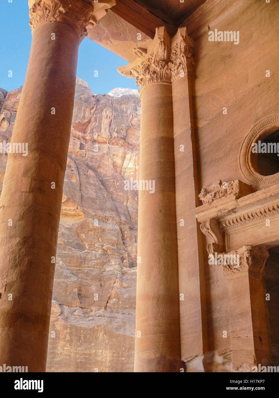 Al Khazneh, the Treasury at Petra, Jordan - Stock Image