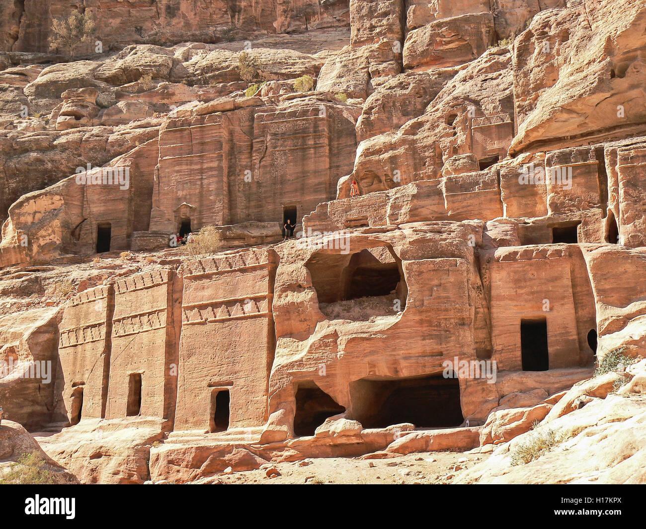 Street of Facades, Tombs of Petra, Jordan - Stock Image
