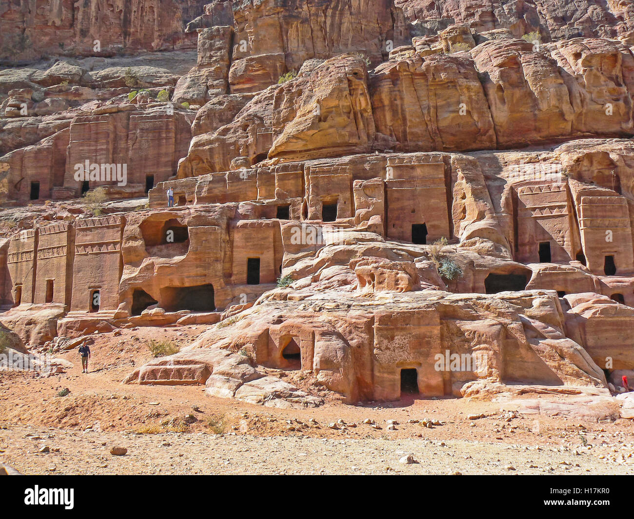 Street of Facades, Tombs of Petra, Jordan - Stock Image