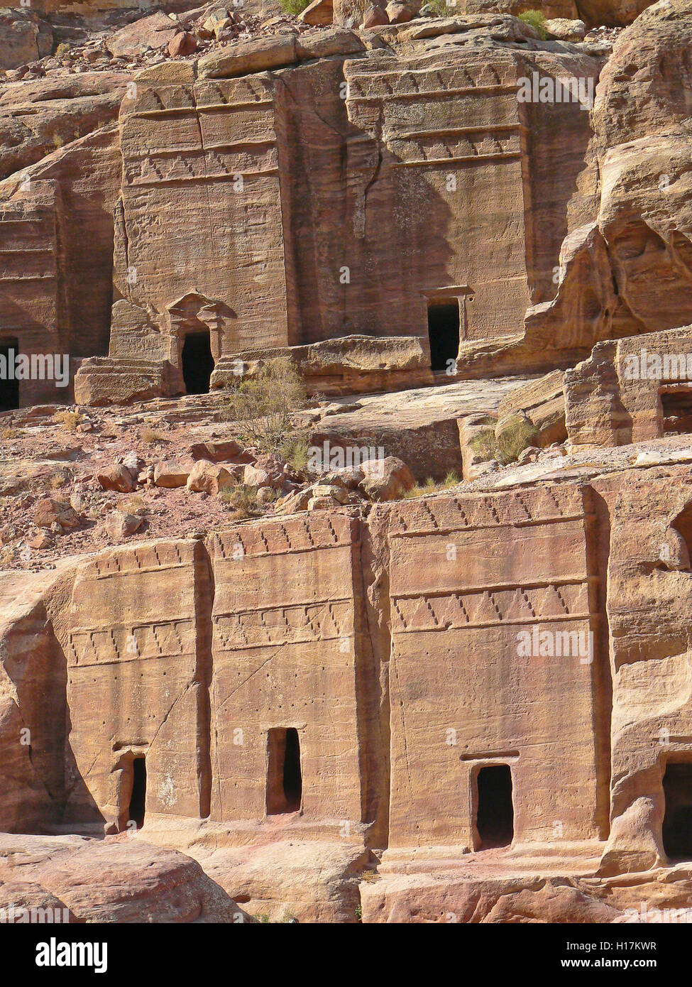 Street of Façades, Tombs of Petra, Jordan - Stock Image